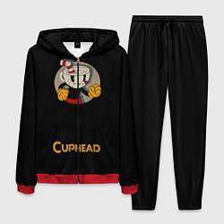 Костюм мужской Cuphead: Black Mugman цвета 3D-красный — фото 1