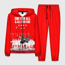 Костюм мужской One for all & all for one цвета 3D-красный — фото 1