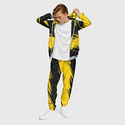 Костюм мужской BVB 09: Yellow Breaks цвета 3D-меланж — фото 2