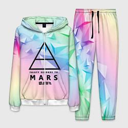 Костюм мужской 30 Seconds to Mars цвета 3D-белый — фото 1