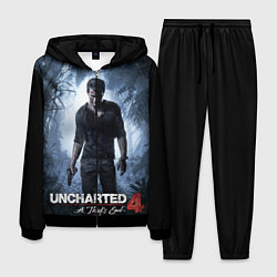 Костюм мужской Uncharted 4: A Thief's End цвета 3D-черный — фото 1