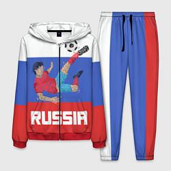 Костюм мужской Russia Footballer цвета 3D-красный — фото 1