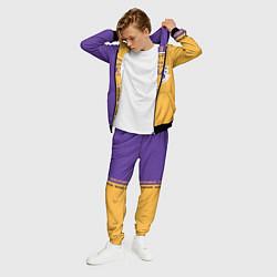 Костюм мужской NBA: LA Lakers цвета 3D-черный — фото 2