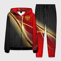Костюм мужской RUSSIA SPORT: Gold Collection цвета 3D-черный — фото 1