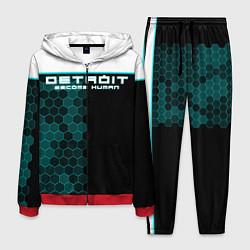 Костюм мужской Detroit: Cyber Hexagons цвета 3D-красный — фото 1