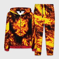 Костюм мужской Cyberpunk 2077: FIRE SAMURAI цвета 3D-красный — фото 1