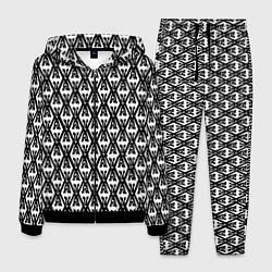 Костюм мужской TES: White Pattern цвета 3D-черный — фото 1