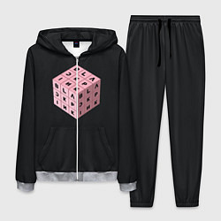 Костюм мужской Black Pink Cube цвета 3D-меланж — фото 1