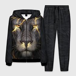 Костюм мужской Лев с молнией цвета 3D-черный — фото 1