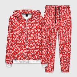 Костюм мужской Supreme: Red Letters цвета 3D-белый — фото 1