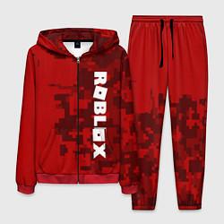 Костюм мужской ROBLOX: Red Camo цвета 3D-красный — фото 1