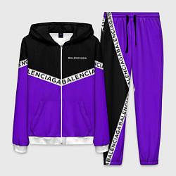 Костюм мужской Balenciaga: Black & Violet цвета 3D-белый — фото 1