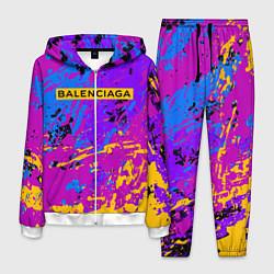 Костюм мужской Balenciaga: Neon Fashion цвета 3D-белый — фото 1