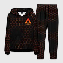 Костюм мужской Apex Legends: Orange Carbon цвета 3D-черный — фото 1