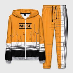 Костюм мужской Muse: Orange Mood цвета 3D-меланж — фото 1