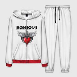 Костюм мужской Bon Jovi цвета 3D-красный — фото 1
