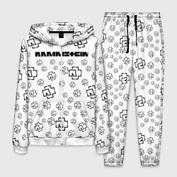 Костюм мужской Rammstein: White Pattern цвета 3D-белый — фото 1