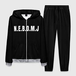 Костюм мужской NEBOMJ Black цвета 3D-меланж — фото 1