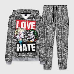 Костюм мужской Love Hate цвета 3D-меланж — фото 1