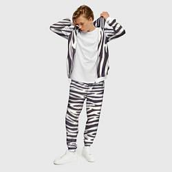 Костюм мужской Я зебра цвета 3D-белый — фото 2