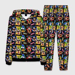 Костюм мужской Микки Маус и Гуффи цвета 3D-черный — фото 1
