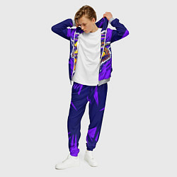 Костюм мужской Граффити Лев фиолетовый цвета 3D-меланж — фото 2
