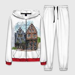 Костюм мужской Амстердам цвета 3D-красный — фото 1