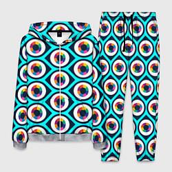 Костюм мужской Глаза паттерн цвета 3D-меланж — фото 1