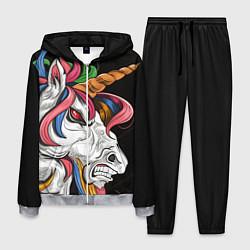 Костюм мужской Evil unicorn цвета 3D-меланж — фото 1