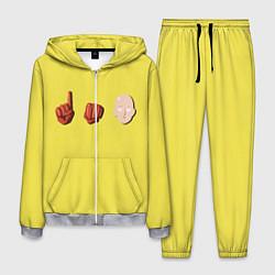 Костюм мужской Сайтама One Punch Man цвета 3D-меланж — фото 1