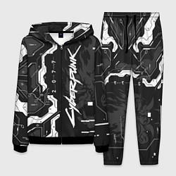 Костюм мужской Cyberpunk 2077 Tech цвета 3D-черный — фото 1