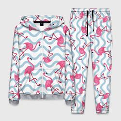 Костюм мужской Фламинго Волны цвета 3D-меланж — фото 1
