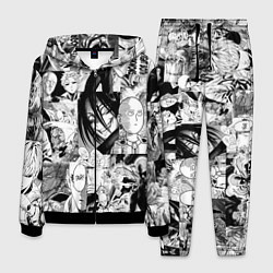 Костюм мужской One-Punch Man Ванпачмен цвета 3D-черный — фото 1