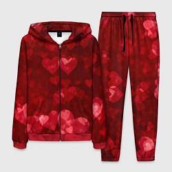 Костюм мужской СЕРДЕЧКИ HEARTS Z цвета 3D-красный — фото 1