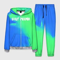 Костюм мужской Скриптонит Бейби Мама цвета 3D-меланж — фото 1
