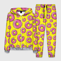 Костюм мужской Пончики Гомера цвета 3D-меланж — фото 1