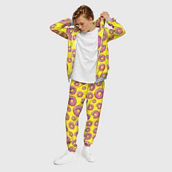 Костюм мужской Пончики Гомера цвета 3D-меланж — фото 2