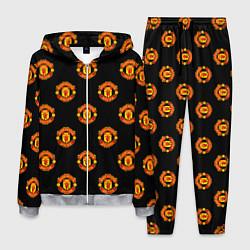 Костюм мужской Manchester United Pattern цвета 3D-меланж — фото 1