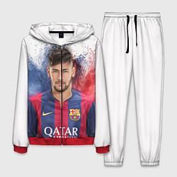 Костюм мужской Neymar FCB цвета 3D-красный — фото 1