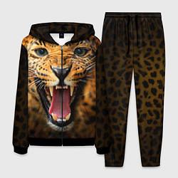 Костюм мужской Рык леопарда цвета 3D-черный — фото 1