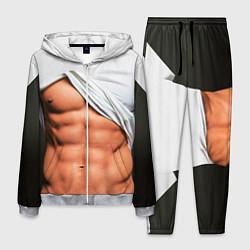 Костюм мужской Идеальное тело цвета 3D-меланж — фото 1