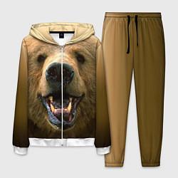 Костюм мужской Взгляд медведя цвета 3D-белый — фото 1