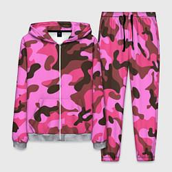 Костюм мужской Камуфляж: розовый/коричневый цвета 3D-меланж — фото 1