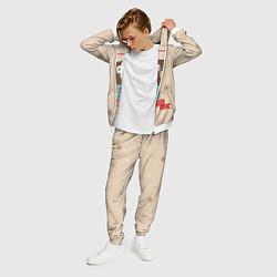 Костюм мужской Сова в наушниках цвета 3D-белый — фото 2