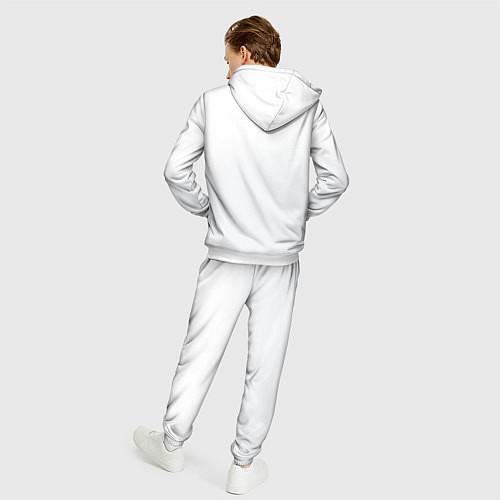 Мужской костюм Группа Пикник / 3D-Белый – фото 4