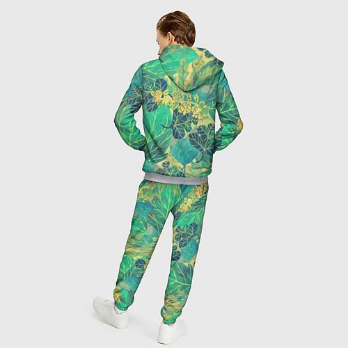 Мужской костюм Узор из листьев / 3D-Меланж – фото 4