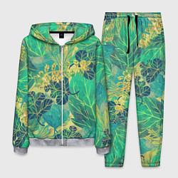Костюм мужской Узор из листьев цвета 3D-меланж — фото 1