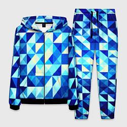 Мужской костюм Синяя геометрия