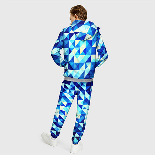 Мужской костюм Синяя геометрия / 3D-Меланж – фото 4