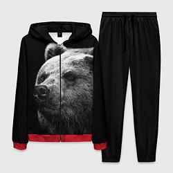 Костюм мужской Черно-белый медведь цвета 3D-красный — фото 1
